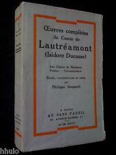 Philippe Soupault E/O 325ex Lautréamont Oeuvres completes Isidore Ducasse 1927