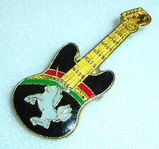 ZP178 Unusual - Unicorn and Rainbow on a Guitar - Enamel pin badge