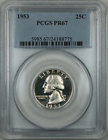 1953 Washington Silver Quarter, PCGS PR-67 (Cameo) *Please Read Description*