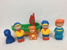 PBS Caillou Interchangeable Figure LOT w/ Boat & Pets Very Hard to Find Free SHP