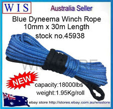18000lbs 10mm x 30m Dyneema Winch Rope Red Synthetic Cable 4WD Recovery Offroad