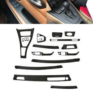 5D Interior Carbon Fiber Vinyl Trim Sticker Decal Fit for BMW 3 Series E90 05-13