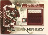 2010-11 ITG Heroes & Prospects Game-Used Jersey Silver Matt Puempel Vault 1/1
