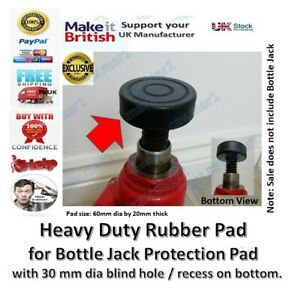 Bottle Jack Pad for  with 30mm Recess Suitable for Bottle Jack Rubber pad