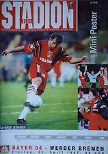 Programm 1996/97 Bayer 04 Leverkusen - Werder Bremen