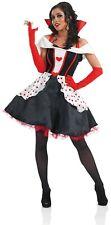 Womens Queen of Hearts Fancy Dress Costume S - 3XL Ladies Storybook Dress