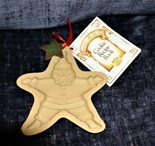 1994 Brown Bag Cookie Art Mold Star Santa New with Tag