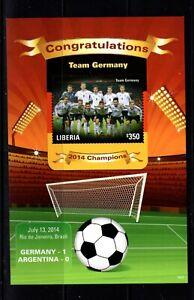 Liberia #2981 (2014 World Cup Team Germany Winners sheet of one) VFMNH CV $7.50