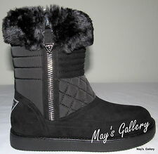 GUESS High Top Faux Fur Trimmed Shoe Shoes Suede Booties Boot  Boots  Ankle 9