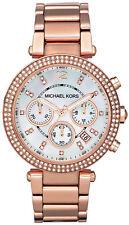 Michael Kors Women Chronograph Parker Rose Gold Stainless Steel Watch MK5491