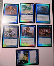 MTG Magic the gathering - lot 7 cartes FOILS bleu