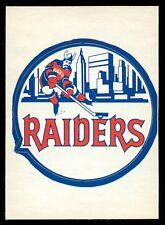 1972-73 OPC O PEE CHEE WHA Insert NEW YORK N Y YORK RAIDERS NM SP TEAM LOGOS