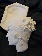 ART DECO WHITE RESIN WALL FACE SILICONE RUBBER MOULD