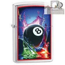 Zippo 29295 Mazzi 8 Ball Splash Lighter with PIPE INSERT PL