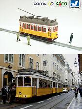 Yellow Lisbon Tram HO/N gauge (HOe) - motorized with light NEW