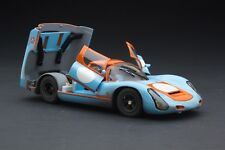 RACE WEATHERED / Exoto Gulf Porsche 910 / Vintage Racing / 1:18 / #MTB00064AFLP