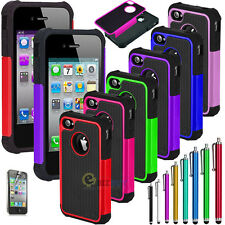 PC Shockproof Dirt Dust Proof Hard Matte Cover Case For iPhone 4 4S Screen Guard
