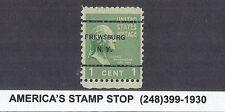 1938 US SC 804 Frewsburg NY Precancel - 1c George Washington, Used