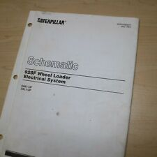Caterpillar 928f Wheel Loader Electrical System Schematic Manual Service Repair