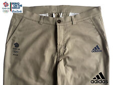 ADIDAS TEAM GB RIO 2016 ELITE LADY ATHLETE BEIGE CHINO PANTS TROUSERS Size 12