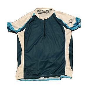 Fox Cycling Jersey Medium Racing Bicycle Spandex Polyester Trek Shirt Zip Unisex