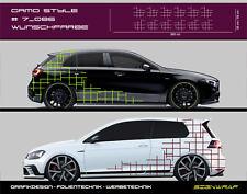 Camo Style Camouflage Seitenstreifen Autoaufkleber - #5_086 -5