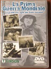 """DVD """"LA PRIMA GUERRA MONDIALE - Le grandi battaglie dei fronti europei"""" Nuovo"""