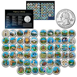America the Beautiful Parks U.S. Quarters COLORIZED * 56-Coin Complete Set *