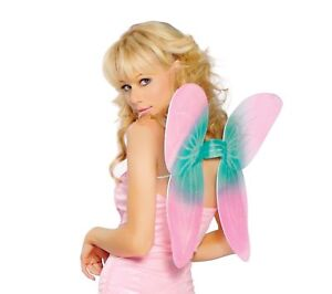 2pc sexy ROMA sheer GLITTER butterfly FAIRY sprite WINGS pixie WAND costume KIT
