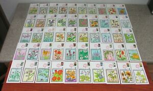 $Pugh Hand Painted cachet FDC's Sc#2647-2696 Wildflowers set of 50