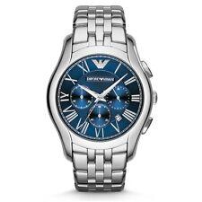 NEW EMPORIO ARMANI AR1787 MENS BLUE VELENTE CHRONOGRAPH WATCH - 2 YEAR WARRANTY