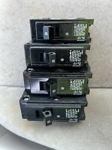 Murray 15 And 20 Amp Type MP-T 120 VAC HACR Electrical Circuit Breaker Lot Of 4