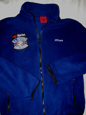 VTG SPYDER US SKI TEAM FREESTYLE SOFT FLEECE JACKET-BLUE-EMBROIDERED PATCH- M