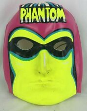 Vintage 1970 Halloween Phantom Plastic Mask Ben Cooper Superhero Villain Comics