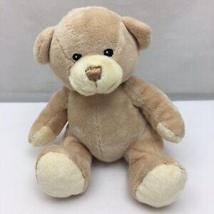 "Tan Brown Teddy Bear Cream Black Sewn Eyes Toys R Us Plush 7"" Toy Lovey"