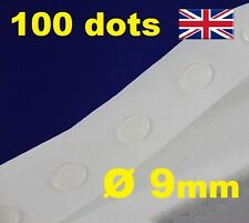 100 Glue Dots Sticky Craft Clear Card Making Scrap Removable 9mm EASY LOW TACK