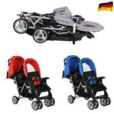 Geschwisterwagen Stahl Zwillingswagen Baby Buggy Doppelkinderwagen Zwilling DHL