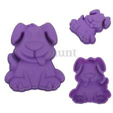 3D Lovely Cartoon Dog Cake Mold Pan Silicone Fondant Chocolate Baking Mould