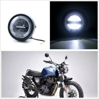 Motorcycle Cafe Racer 12V 55W 6.8 inch Round LED Headlight Daytime Running Light