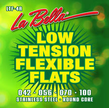 LA BELLA LTF-4A LOW TENSION FLEXIBLE FLATWOUND BASS STRINGS - MEDIUM 4'S 42-100