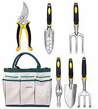 Lanbozita Garden Tools,9 Piece Gardening Tools Set Including Trowel, Transplante