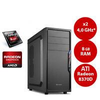 Aufrüst PC AMD A4 7300 2x 4.0* GHz 8GB RAM HDMI DVI Radeon HD 8370D USB 3.0