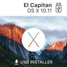 ? MAC OS X 10.11 EL CAPITAN  BOOT USB-Stick USB   Reparatur bootfähiger APPLE