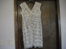 ADRIANNA PAPELL V-Neck Sleeveless Dress, SZ - 14