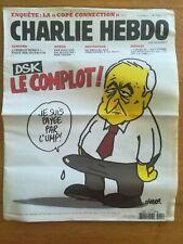 CHARLIE HEBDO N° 1015 - 30/11/2011 - DSK le complot - CHARB