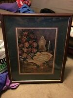 Home Interiors Picture AMAZING GRACE by Margie Whittington Music Roses Vintage