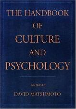 The Handbook of Culture and Psychology (2001, Hardcover)