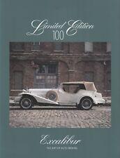 EXCALIBUR Limited Edition 100 5.7 V8 Prospekt Brochure mit Preisliste /5
