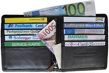 LEDER Geldbörse ohne Münzfach CARDS - schwarz - Ausweisetui Kreditkartenetui