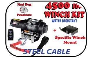 4500lb. Mad Dog Winch Mount Combo 2016-2021 Honda Pioneer 1000 / 1000-5 / LE